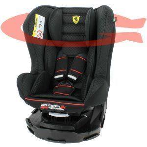 Mycarsit Ferrari pivotant 360°et inclinable Made in France groupe 0+ : 1 (0-18kg)